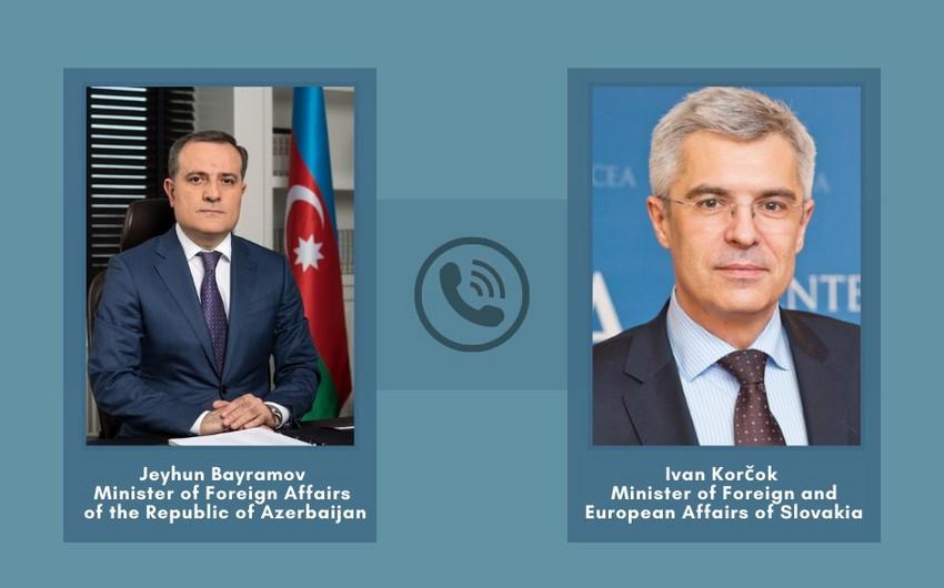 Azərbaycan və Slovakiya XİN başçıları telefonla danışıb