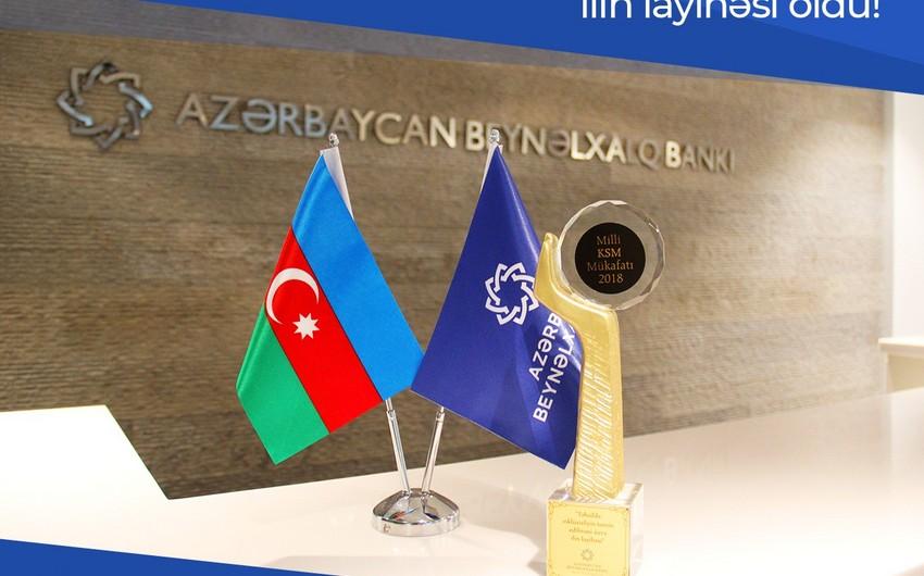 Azərbaycan Beynəlxalq Bankı Milli KSM Mükafatına layiq görülüb