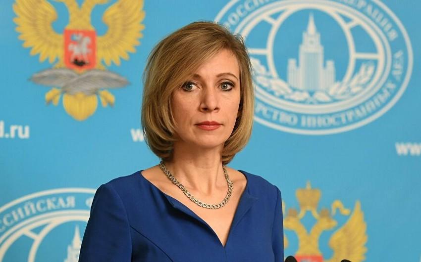Mariya Zaxarova: Rusiyaya qarşı aksiyaların arxasında ABŞ durur