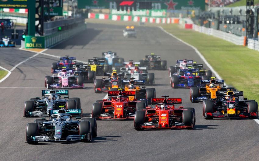 Formula 1: Mövsümün tam təqvimi açıqlandı
