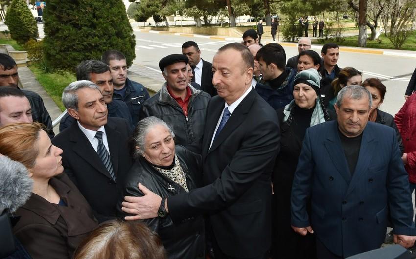"""Azərbaycan Prezidenti: """"Biz bütün qəhrəman şəhid və yaralılarımızla fəxr edirik"""" - VİDEO"""