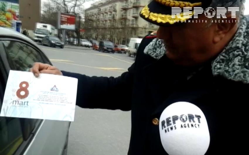 Yol polisi qadın sürücüləri təbrik edib - FOTO - VİDEO