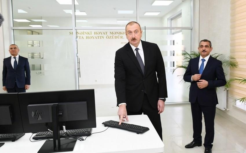 """""""Şəmkirçay"""" Sutəmizləyici Qurğular Kompleksi istifadəyə verilib - YENİLƏNİB"""