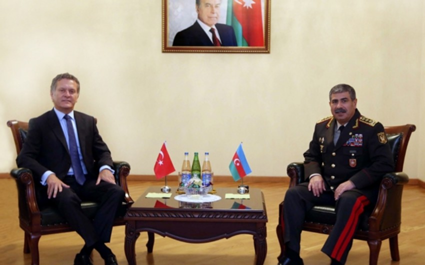 Defense Minister met with Turkish Ambassador completing his activity in Azerbaijan