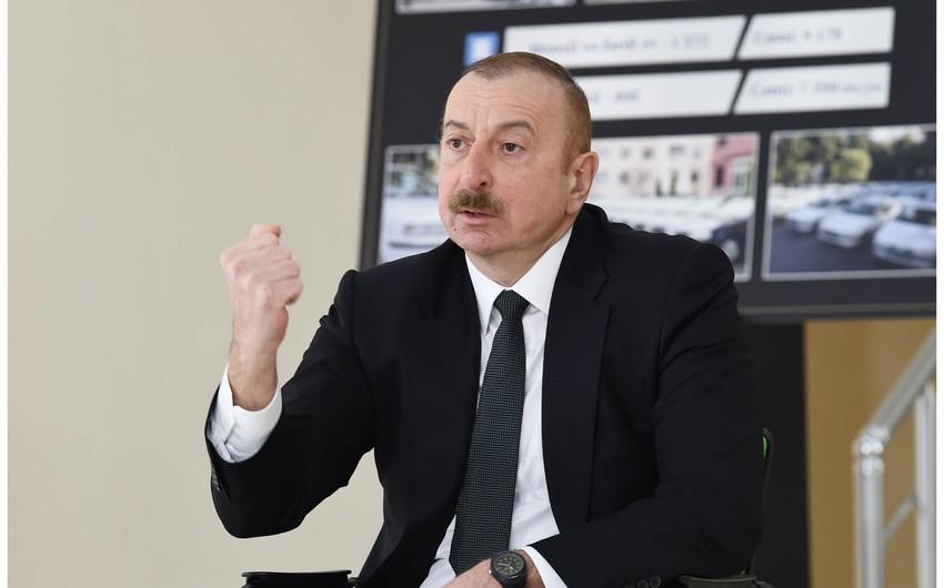 Dövlət başçısı: Tam qətiyyətlə deyə bilərik ki, biz istədiyimizə az itkilərlə nail olduq