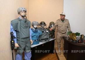 Организована выставка мин и боеприпасов, обнаруженных на освобожденных землях