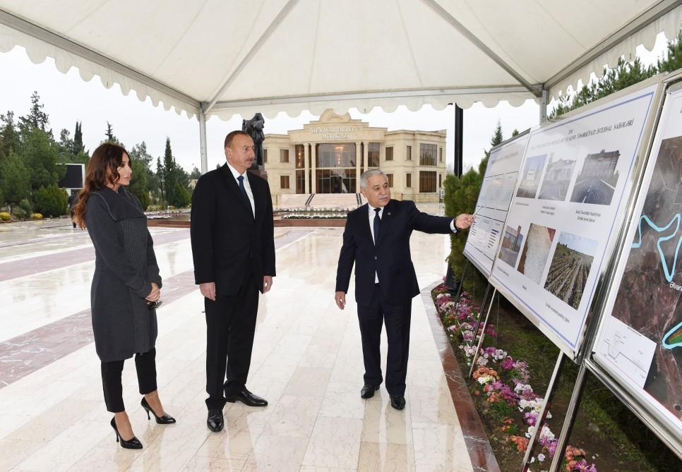 Президент Ильхам Алиев прибыл в Зардабский район