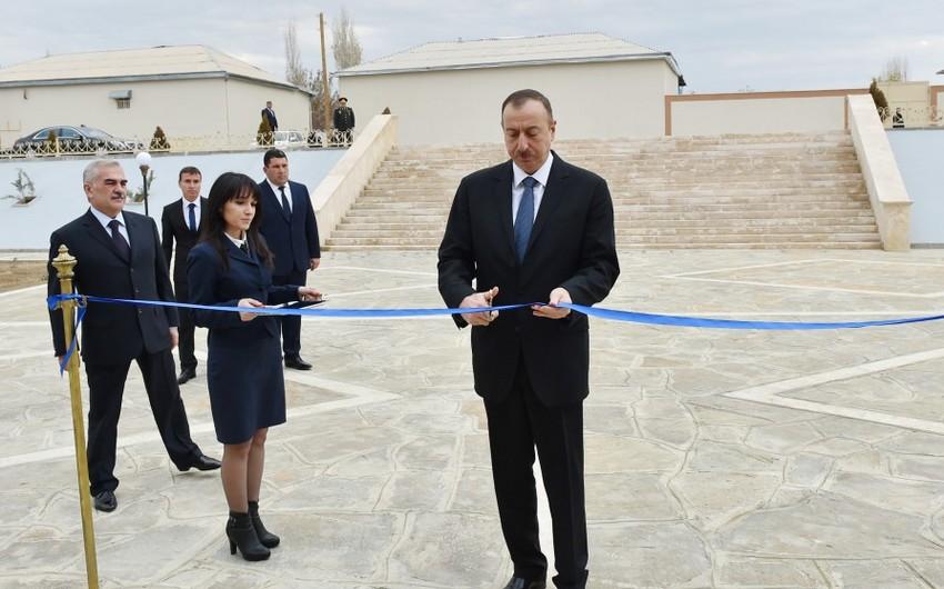 Azərbaycan Prezidenti Nehrəm kənd 2 saylı tam orta məktəbin açılışında iştirak edib