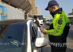Bakıda yol polisi reyd keçirdi, cərimələr yazdı - VİDEO