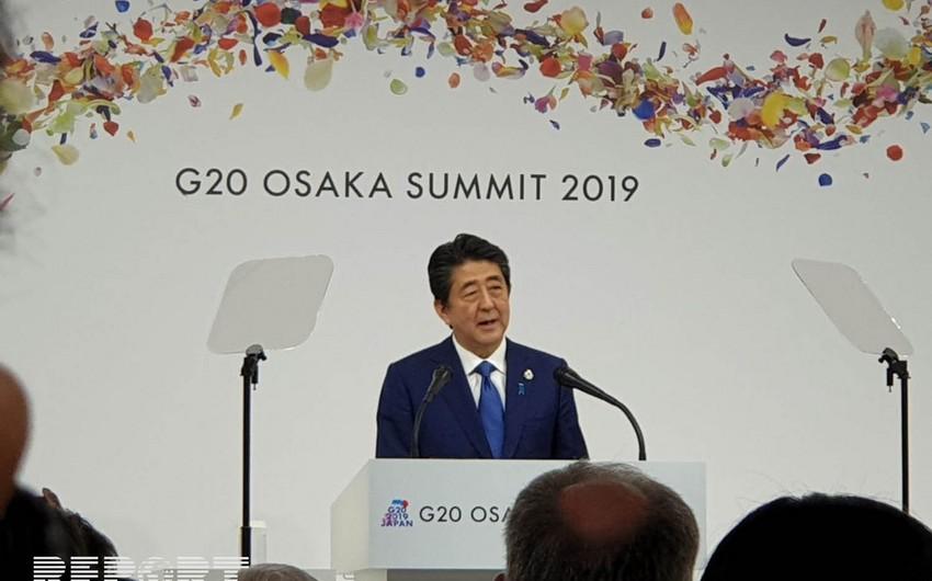 Şinzo Abe: G20 liderləri İran ətrafındakı gərginlikdən narahatdır