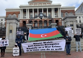 Azerbaijanis protest against cancellation of Khojaly Commemoration Day in US