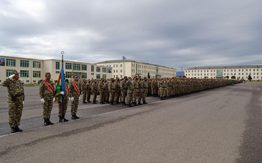 В Азербайджанской Армии состоялась церемония принятия Военной присяги