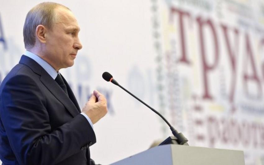 Putin: Rusiya heç kəslə müharibə aparmaq niyyətində deyil