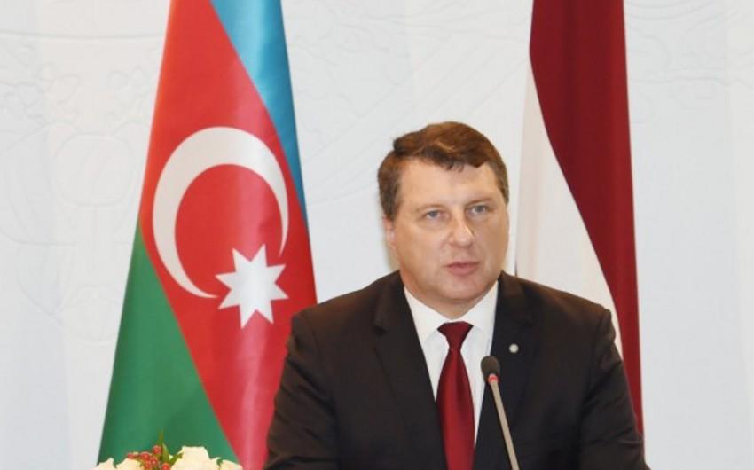 """Prezident Raymonds Veyonis: """"Azərbaycan Latviyanın mühüm tərəfdaşıdır"""""""