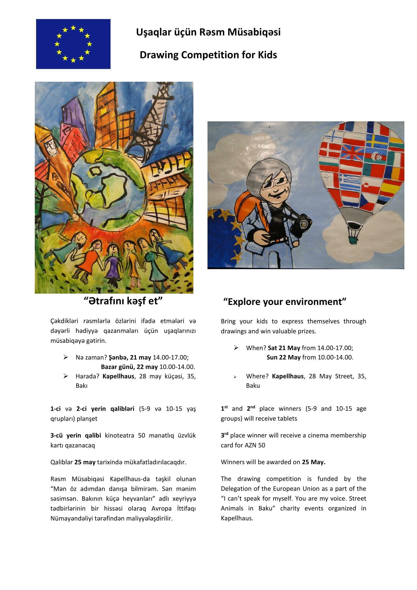 EU organizes drawing competition for children in Azerbaijan
