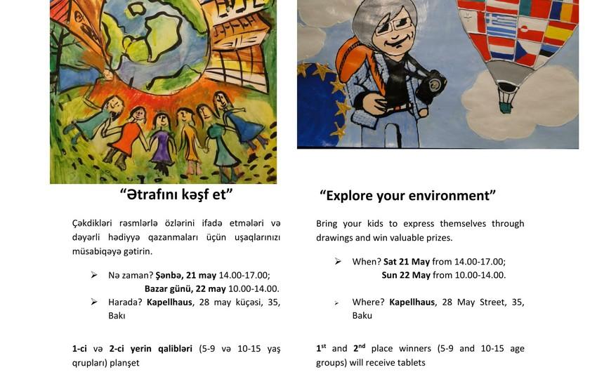 Avropa İttifaqı uşaq rəsm müsabiqəsi təşkil edir