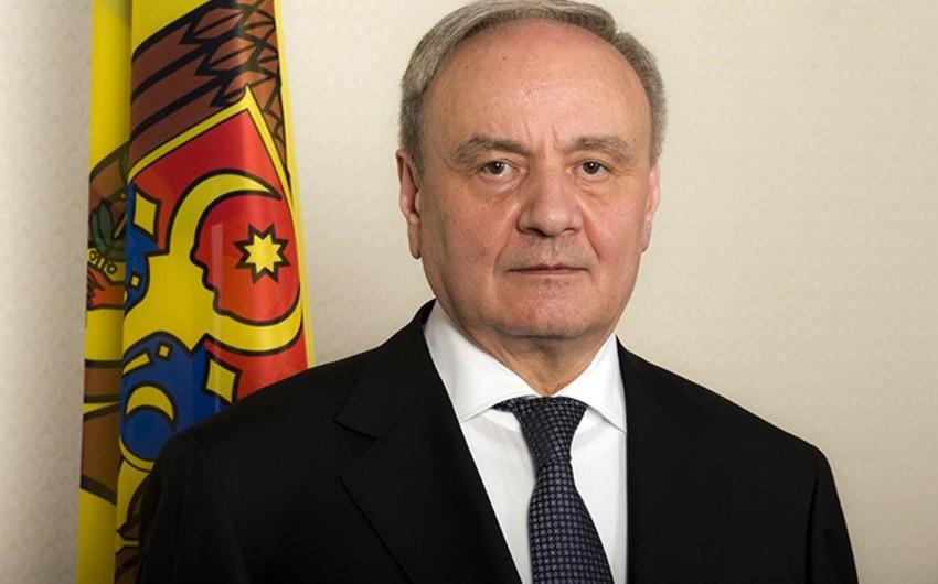 Moldova prezidenti MDB-nin zirvə toplantısında iştirak etməyəcək