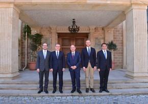 Джейхун Байрамов встретился с главами МИД трех стран Евросоюза - ДОПОЛНЕНО