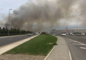 Пожар недалеко от Бакинского олимпийского стадиона потушен