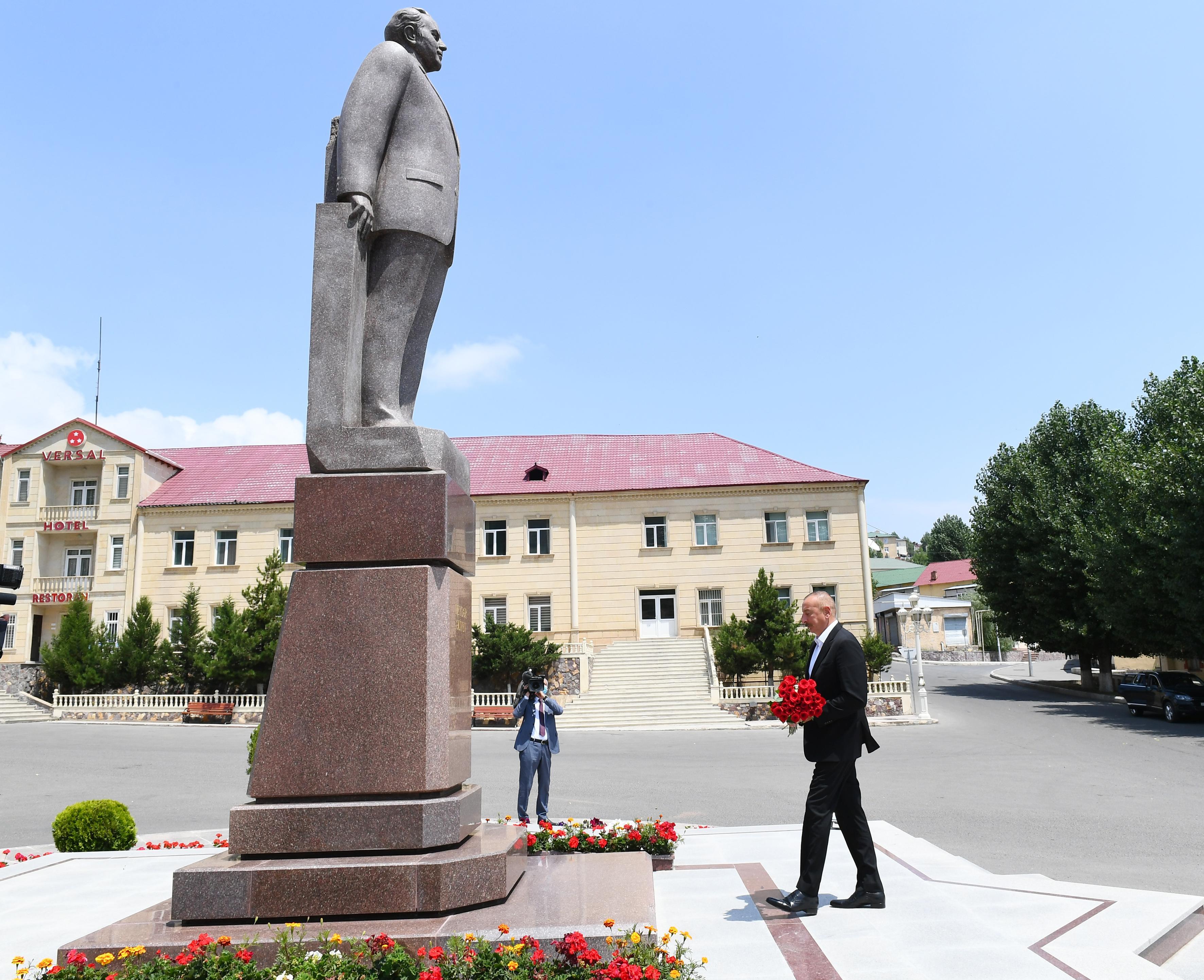 Prezident İlham Əliyev Daşkəsəndə səfərdədir - FOTO