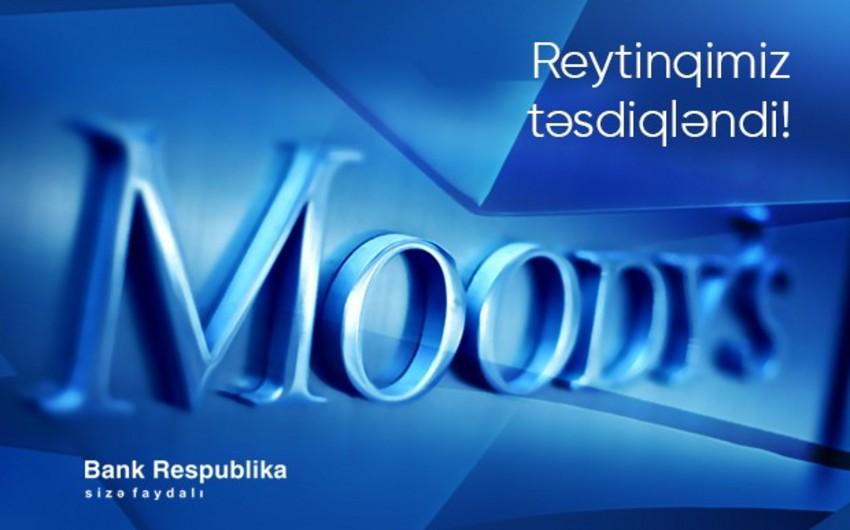 """Moody's: """"Bank Respublika"""" stressə davamlıdır"""