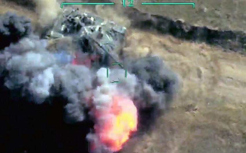 В Тонашене уничтожены два танка противника