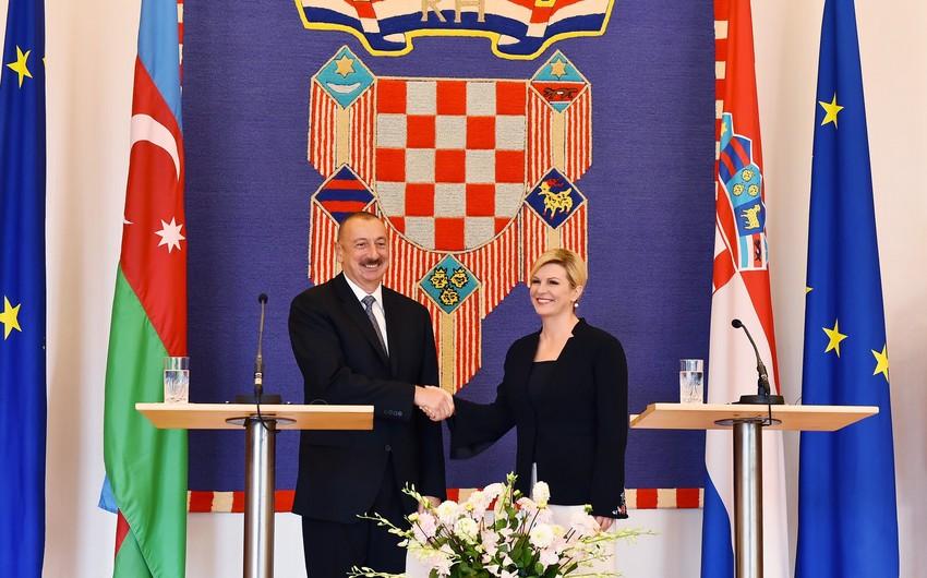 Prezident Kolinda Qrabar-Kitaroviç: Xorvatiya Azərbaycanı özünün mühüm strateji tərəfdaşı hesab edir