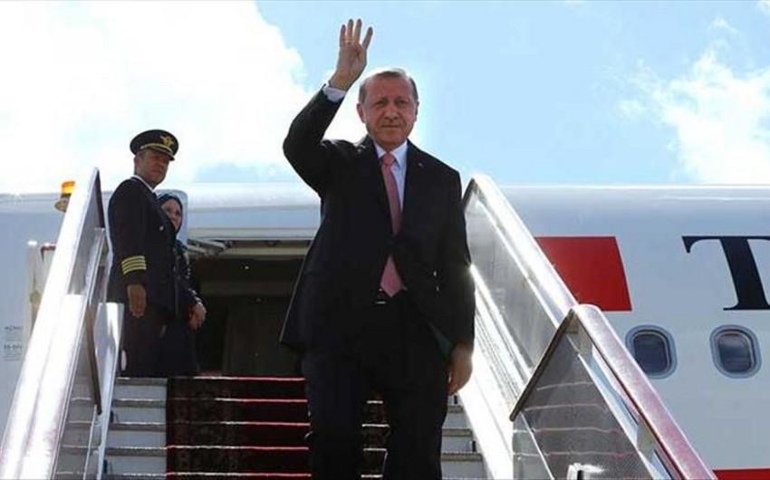 Türkiyə prezidenti Rusiyada səfərdədir