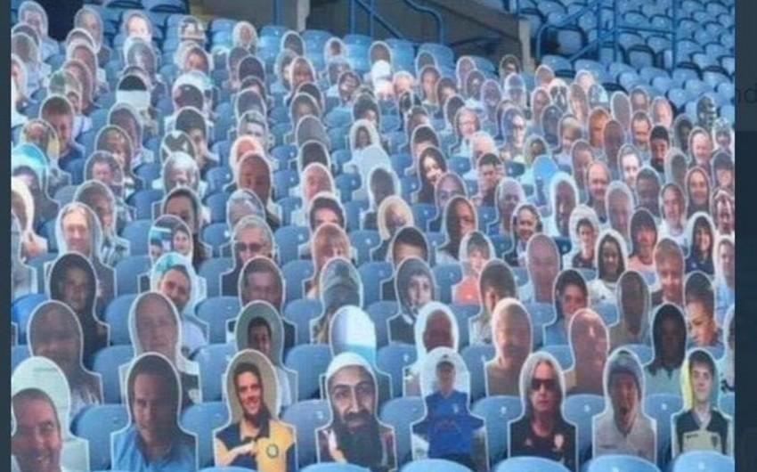 İngiltərə klubunun stadionunda Ben Ladenin portreti peyda oldu