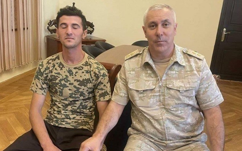 Azerbaijani serviceman detained in Aghdara district returned to Baku