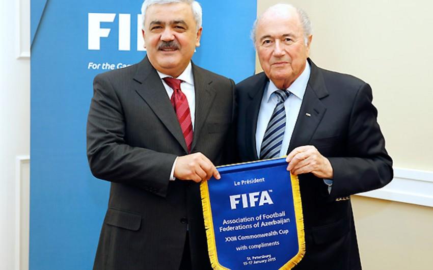 Ровнаг Абдуллаев встретился с президентом ФИФА - ФОТО