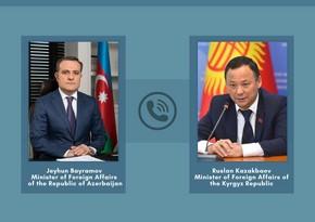 Azerbaijani, Kyrgyz FMs hold phone conversation
