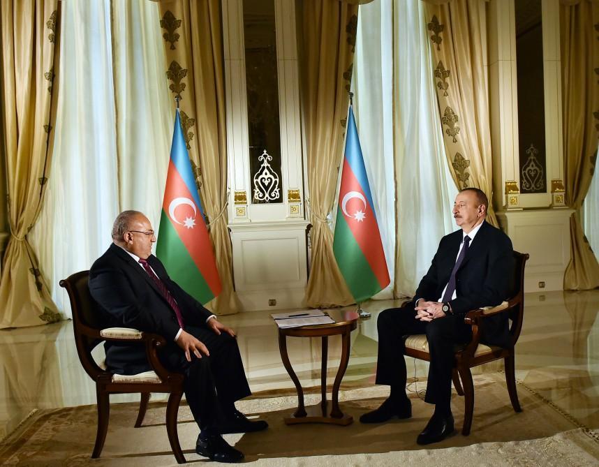 Президент Азербайджана Ильхам Алиев дал интервью телеканалу Аль-Джазира