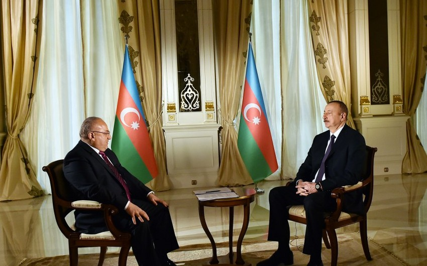 President Ilham Aliyev was interviewed by Al Jazeera TV correspondent
