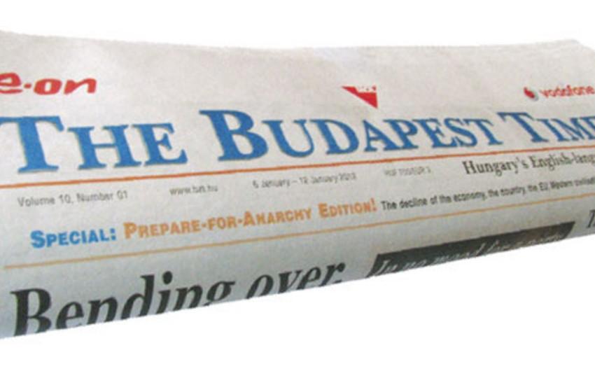 The Budapest Times qəzetində I Avropa Oyunları barədə geniş məqalə çıxıb
