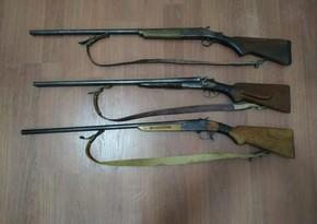 Samux və Tərtər sakinlərindən silah aşkarlandı