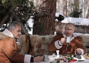 Путин и Шойгу провели выходные в сибирской тайге