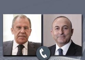 Çavuşoğlu və Lavrov Qarabağı müzakirə ediblər