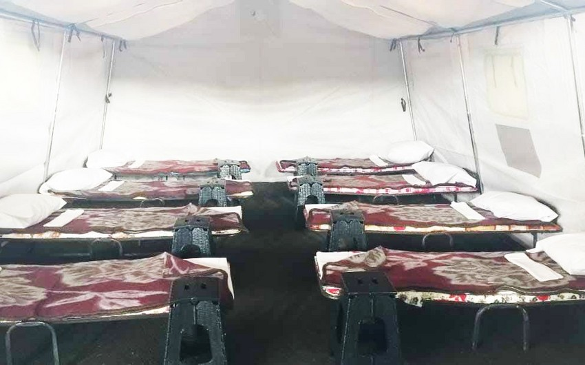 İranla sərhəddə daha bir səyyar hospital - FOTO - VİDEO - YENİLƏNİB