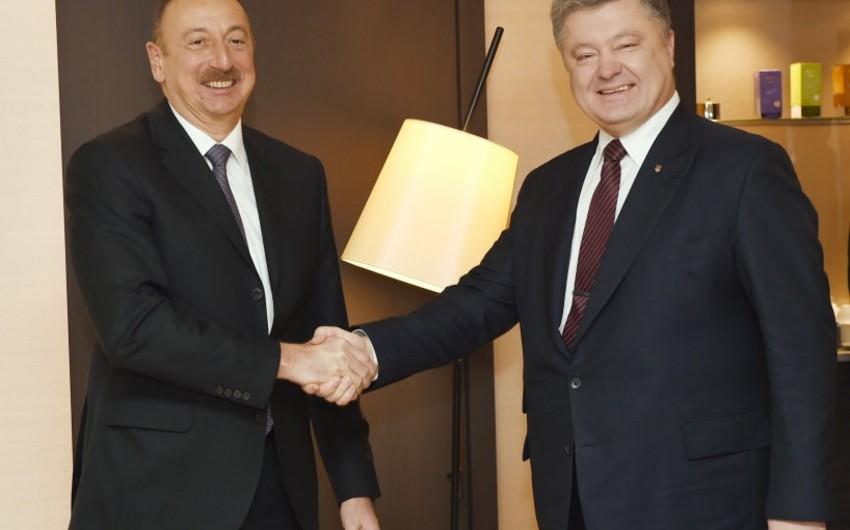 Davosda Azərbaycan və Ukrayna prezidentləri arasında görüş keçirilib