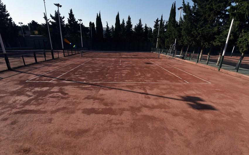 Bakıda yeni tennis kortunun açılışı olub