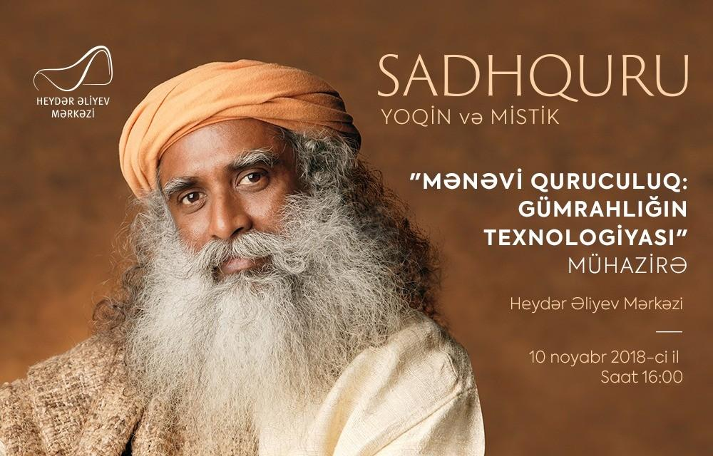 World famous yoga master to  give a lecture at the Heydar Aliyev Center