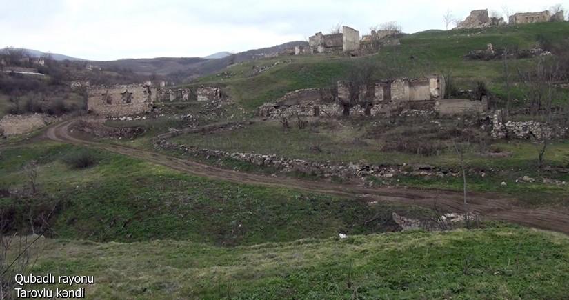 Qubadlı rayonunun Tarovlu kəndindən videogörüntülər