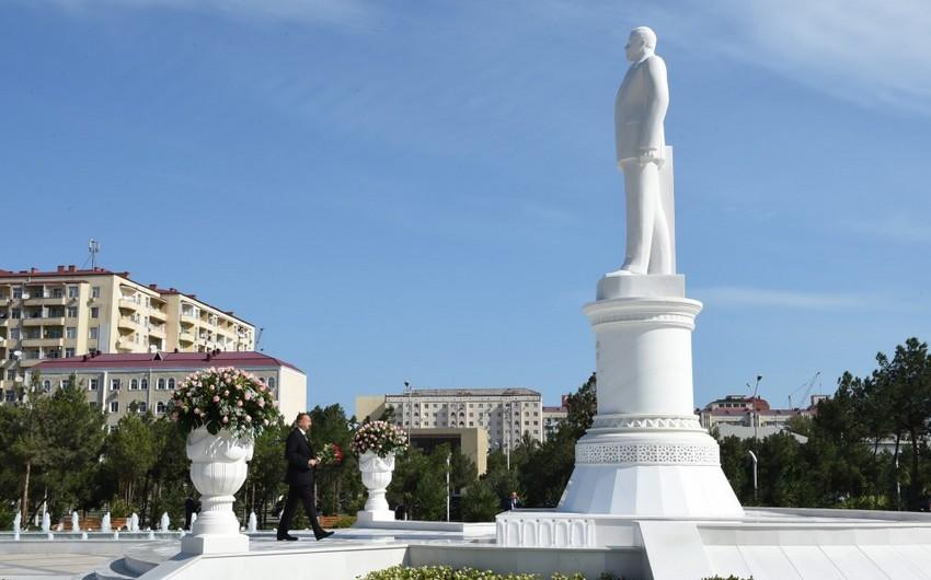 Prezident İlham Əliyev Sumqayıta gedib