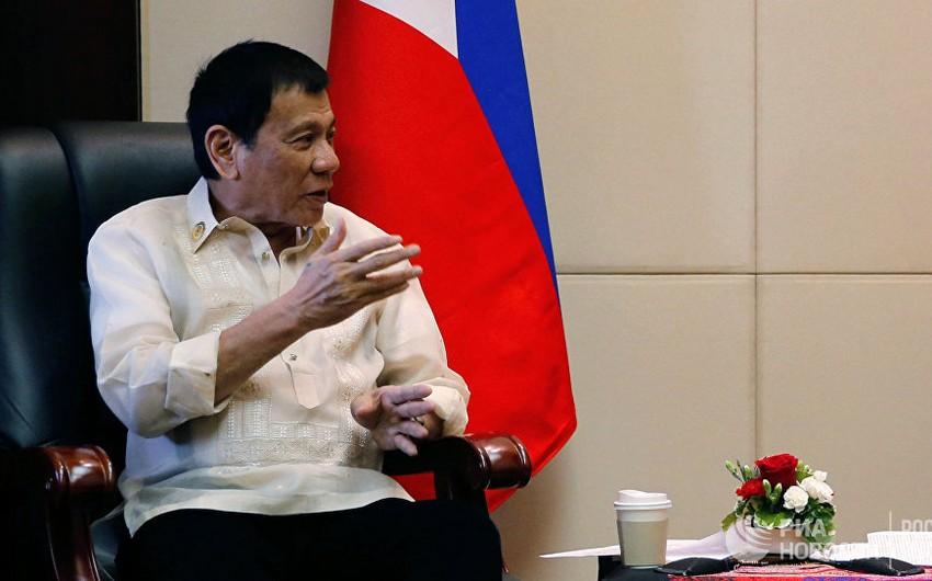 Filippin prezidenti Rusiyaya rəsmi səfərini yarımçıq qoyub