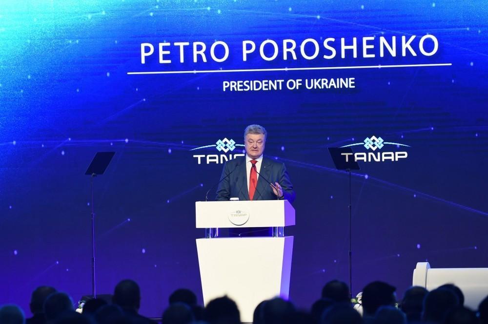 Ukrayna prezidenti: Ölkəmiz TANAP-dan yararlanmaq üçün addımlar atacaq
