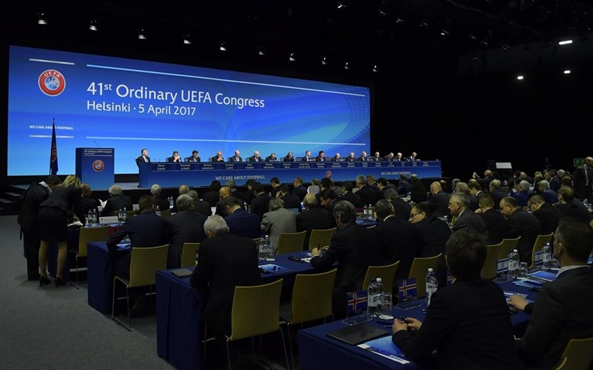 Elkhan Mammadov votes in election for UEFA Executive Committee - UPDATED