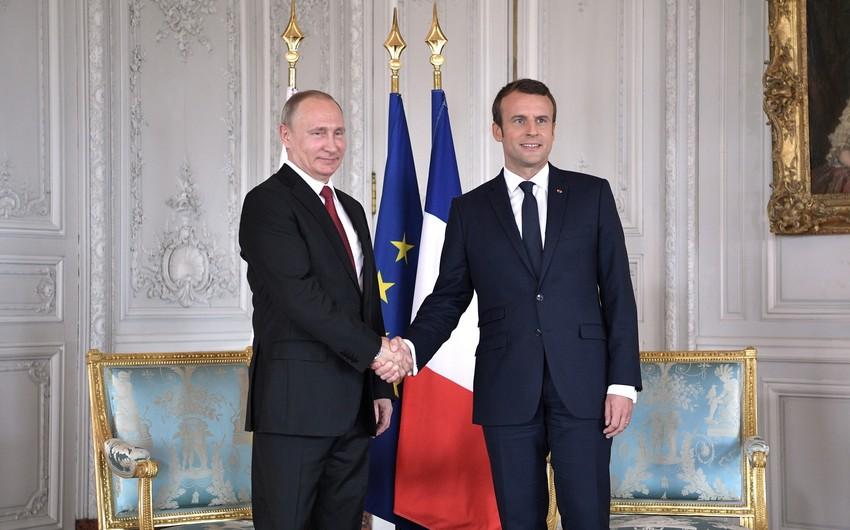 Putinlə Makron Moskva görüşü barədə müzakirə aparıblar