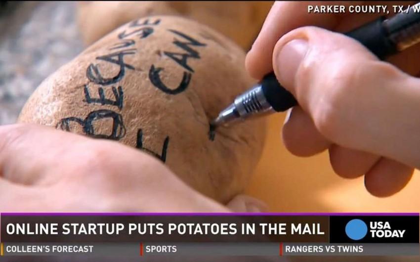 Amerikalı kartofla mesaj göndərərək ayda 10 min dollar qazanır