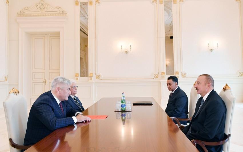 Президент Ильхам Алиев принял министра внутренних дел России